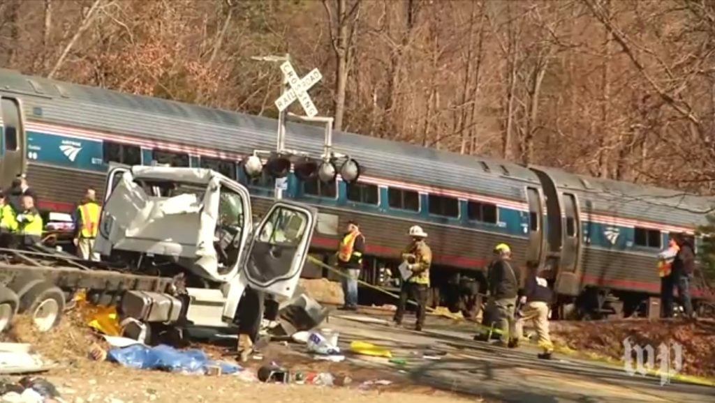 Train Carrying GOP Lawmakers Hits Truck