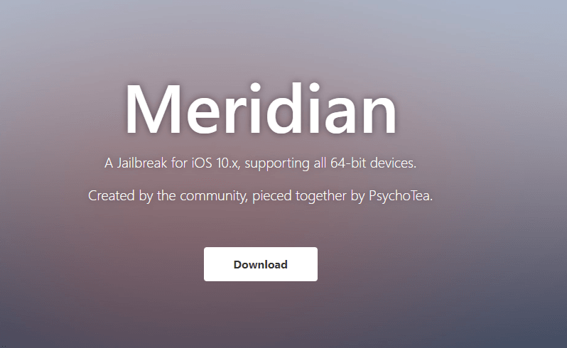 Meridian Jailbreak For iOS 10.3.3