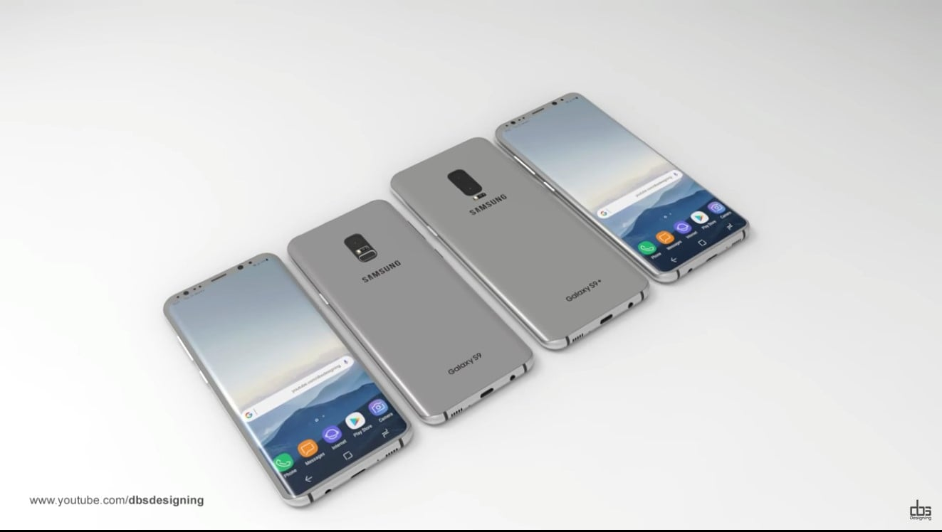 New Galaxy S9 and S9+ Concept Images