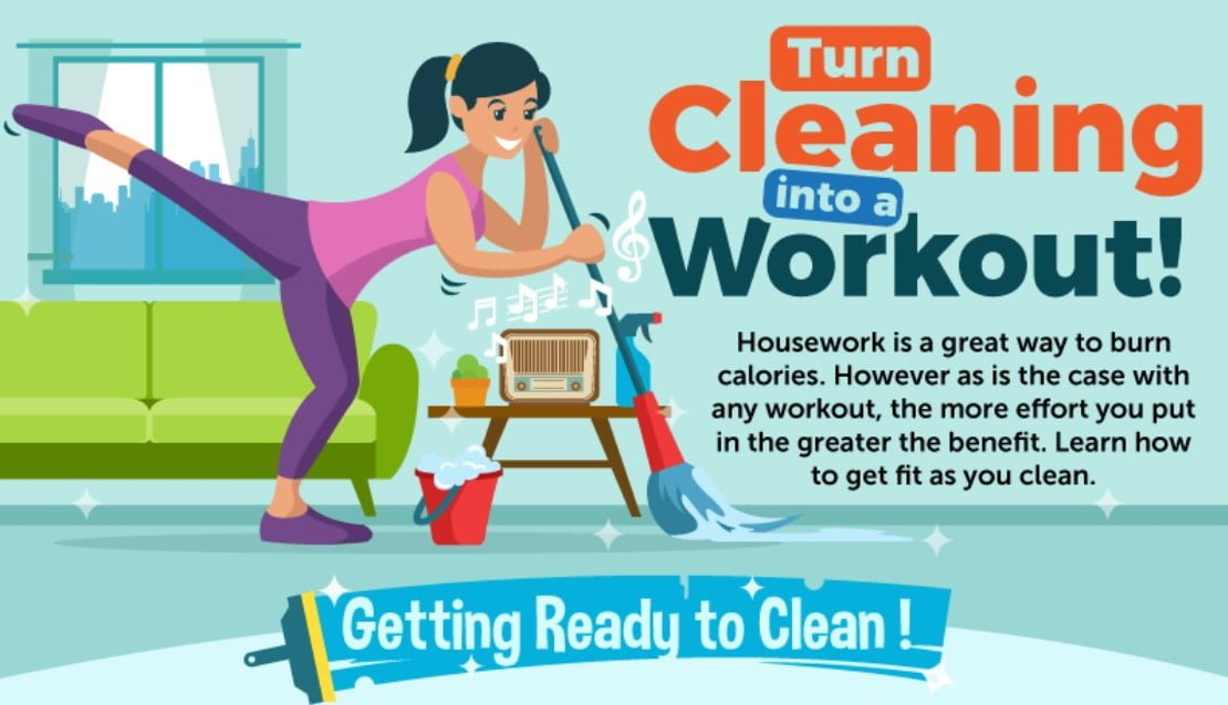 How To Turn House Cleaning Into A Workout
