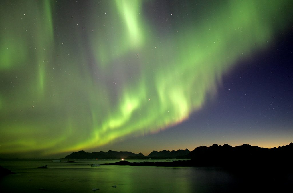Solar Storm Earth's Northern Lights