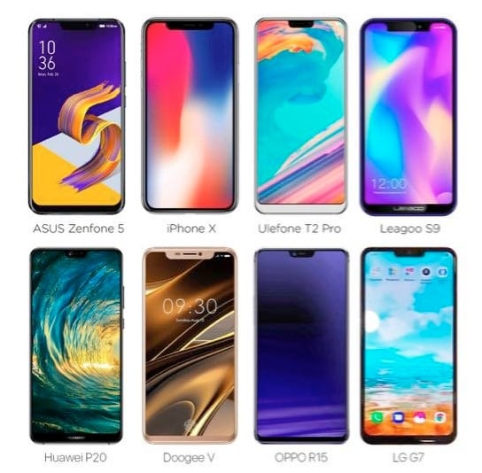 Android Phones Similar To The iPhone X
