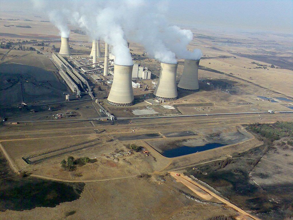 Coal mining and power stations in Mpumalanga, South Africa