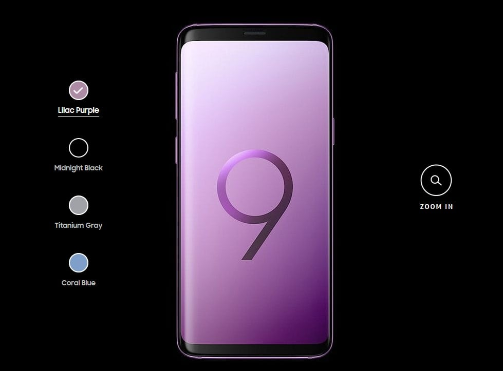 Galaxy S9 Color Options