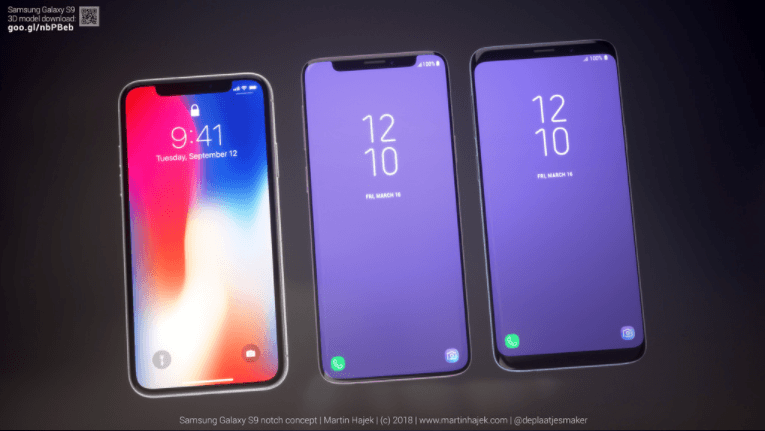 super popular ab852 18881 Here's What Galaxy S9 Would Look Like With iPhone X-Like Display Notch