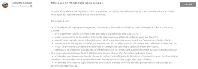 MacOS 10.13.4 Final Release Notes