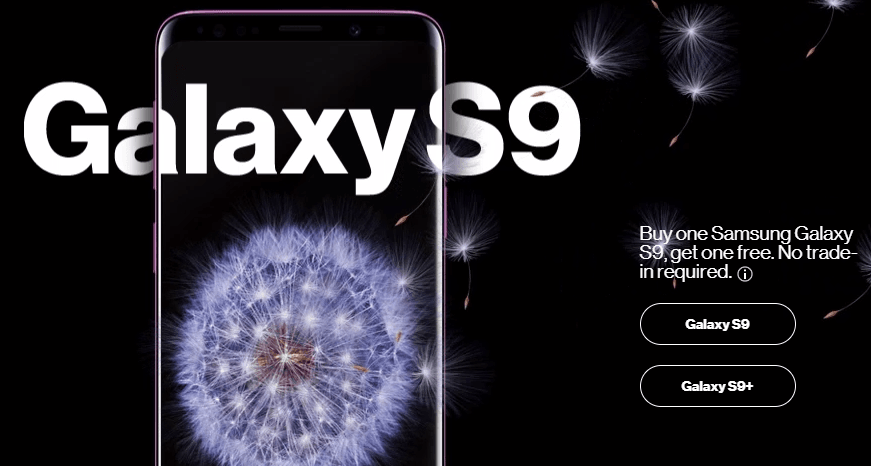 Samsung Galaxy S9 Verizon BOGO Deal