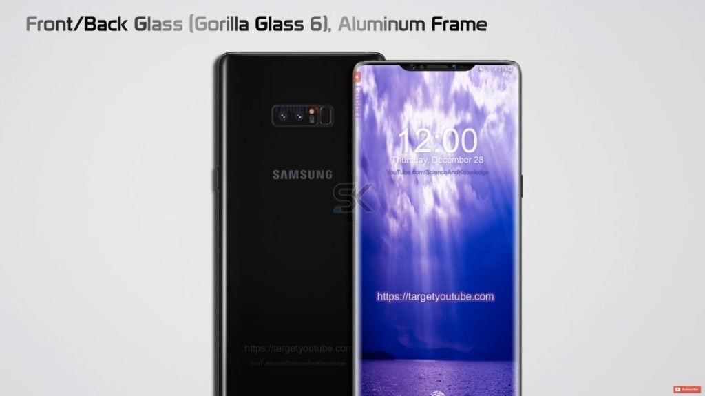 Galaxy Note 9 With Notch
