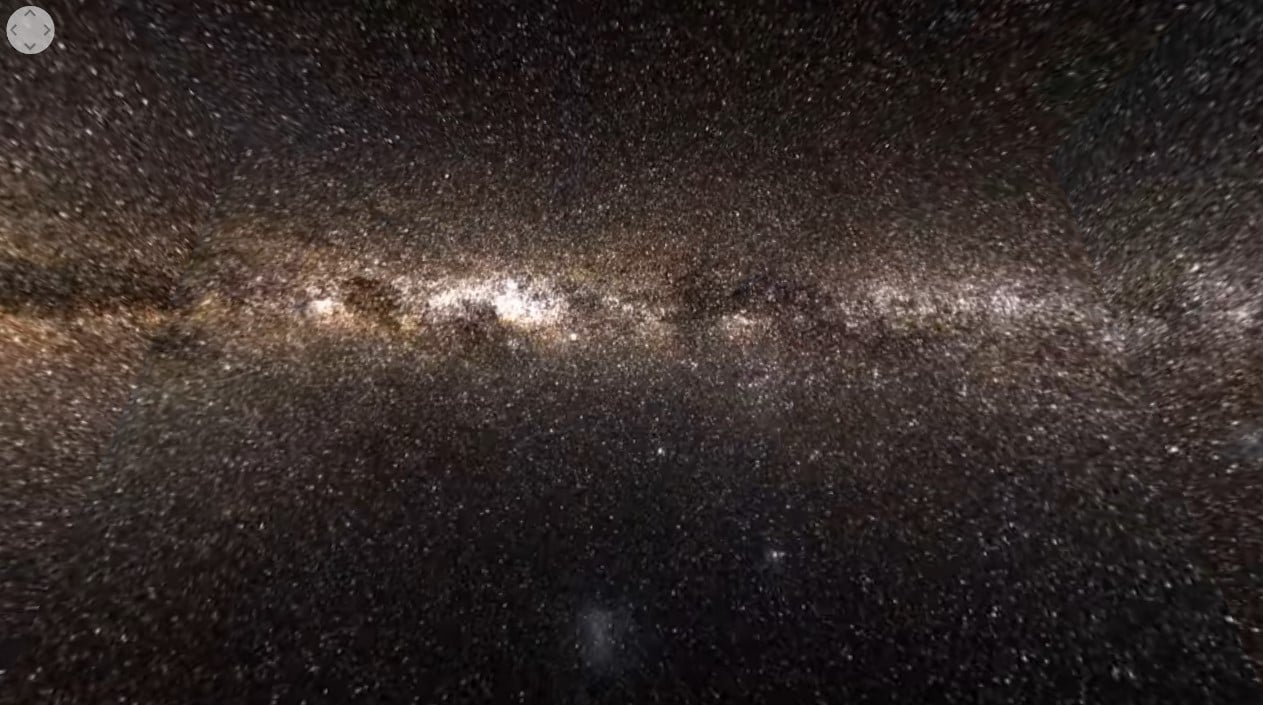 New Milky Way Star Map
