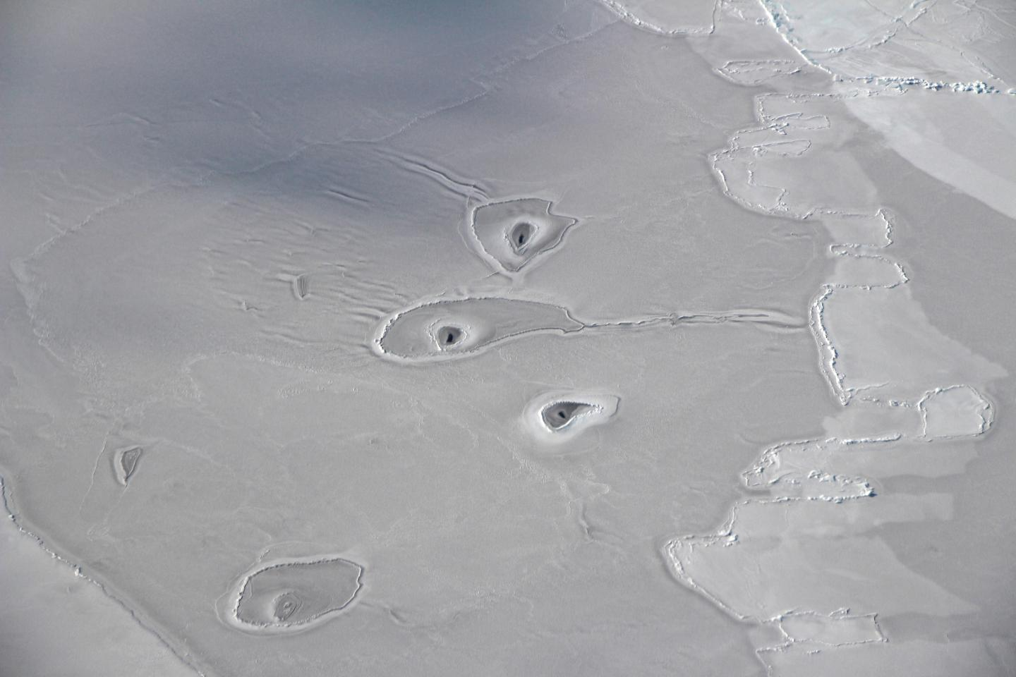 Mysterious Ice Holes