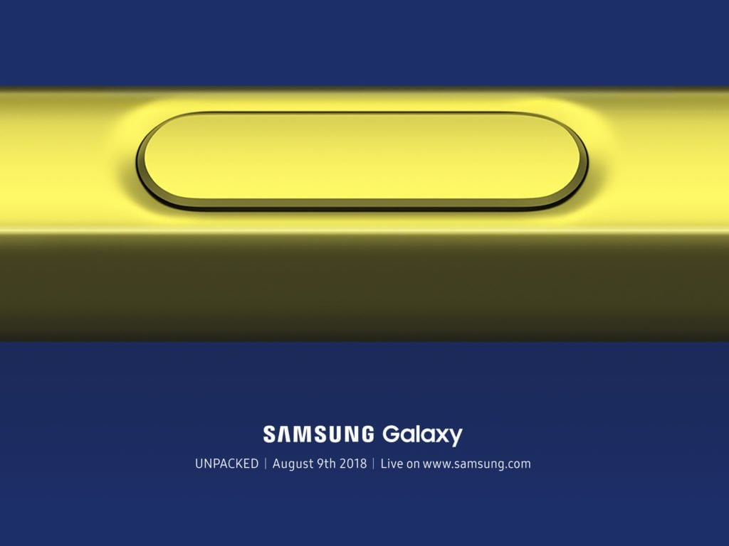 Galaxy Note 9 Unpacked Event Confirmed
