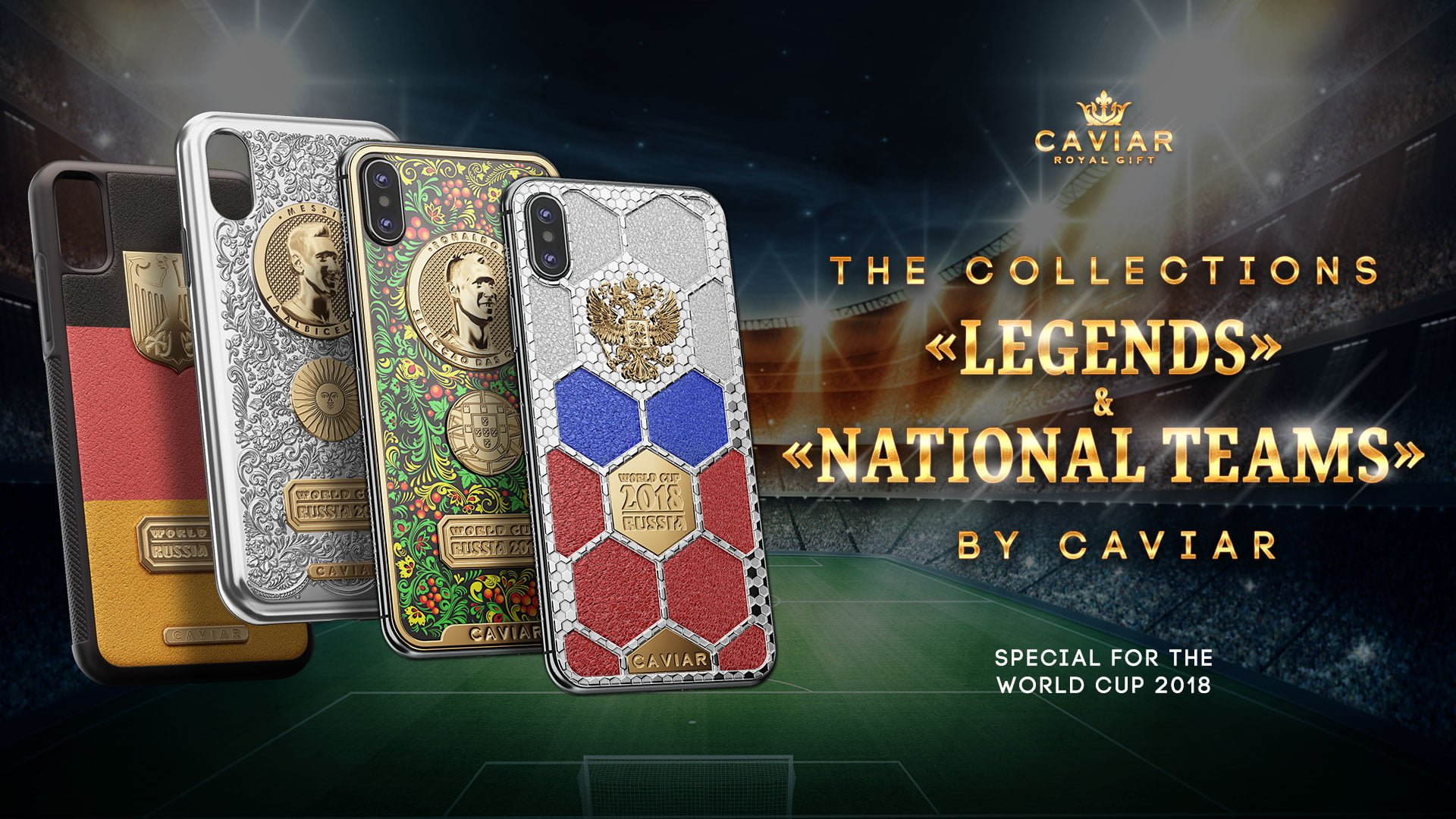 Caviar iPhone X Golden Portraits World Cup 2018