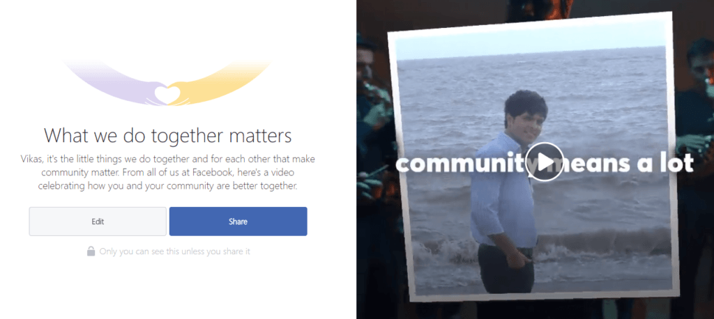 Facebook What We Do Together Matters Community Video