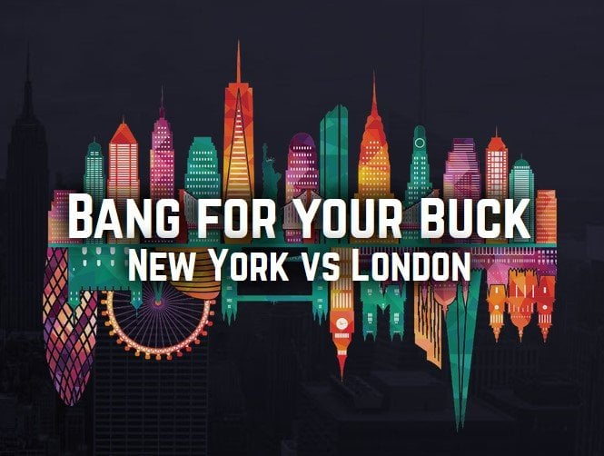 New York vs London New York and London