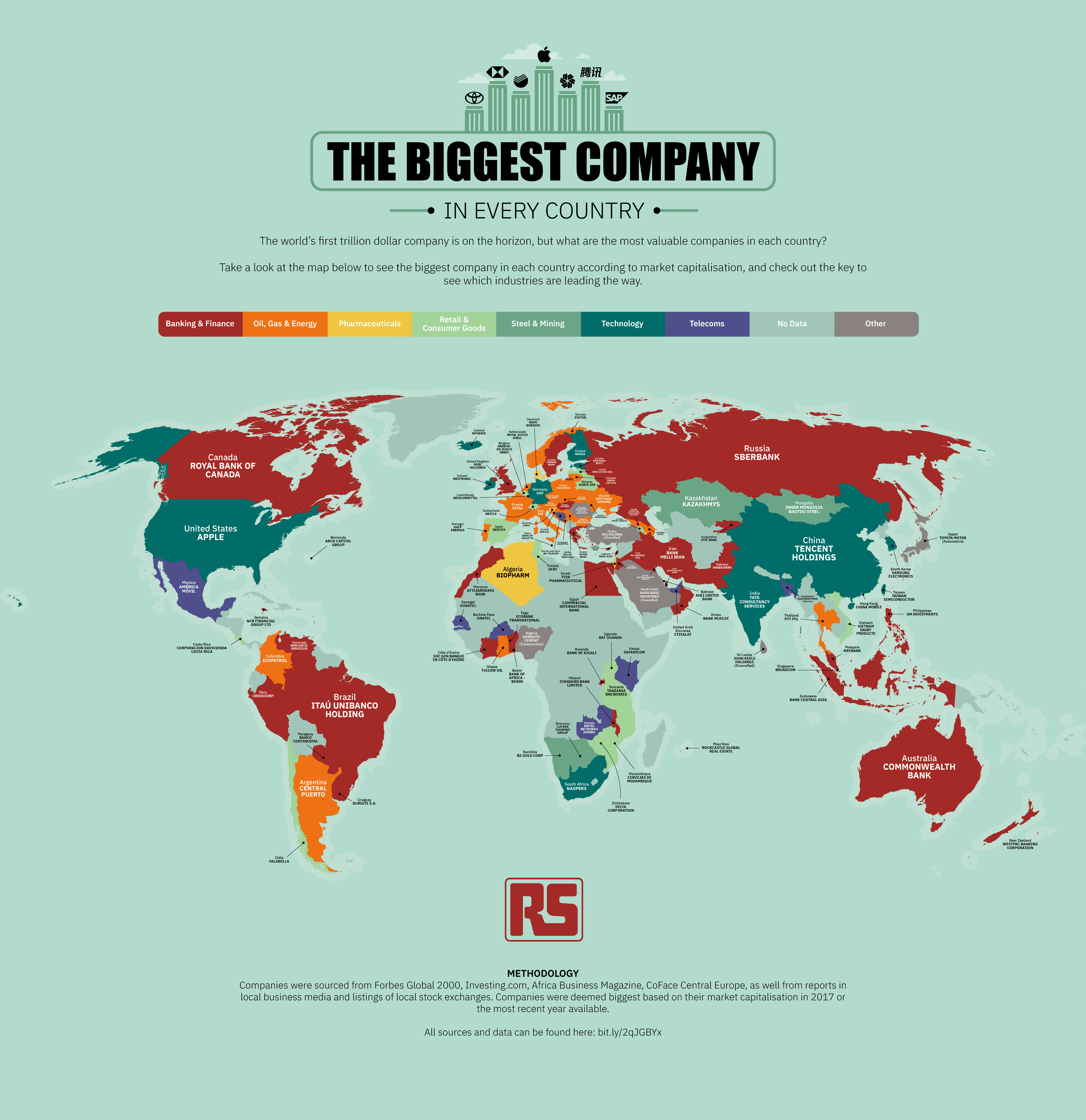 biggest company in every country