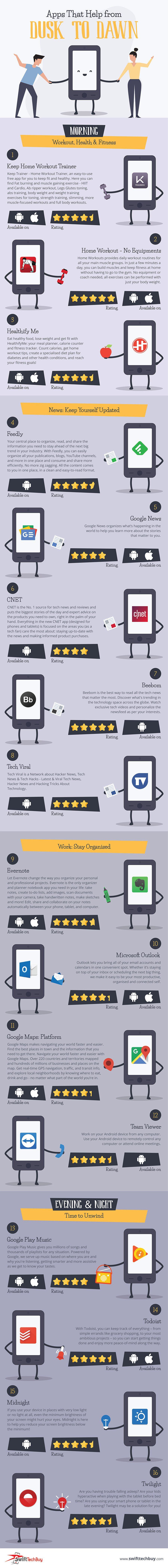 Mobile Phone Apps That Help From Dusk To Dawn [INFOGRAPHIC]