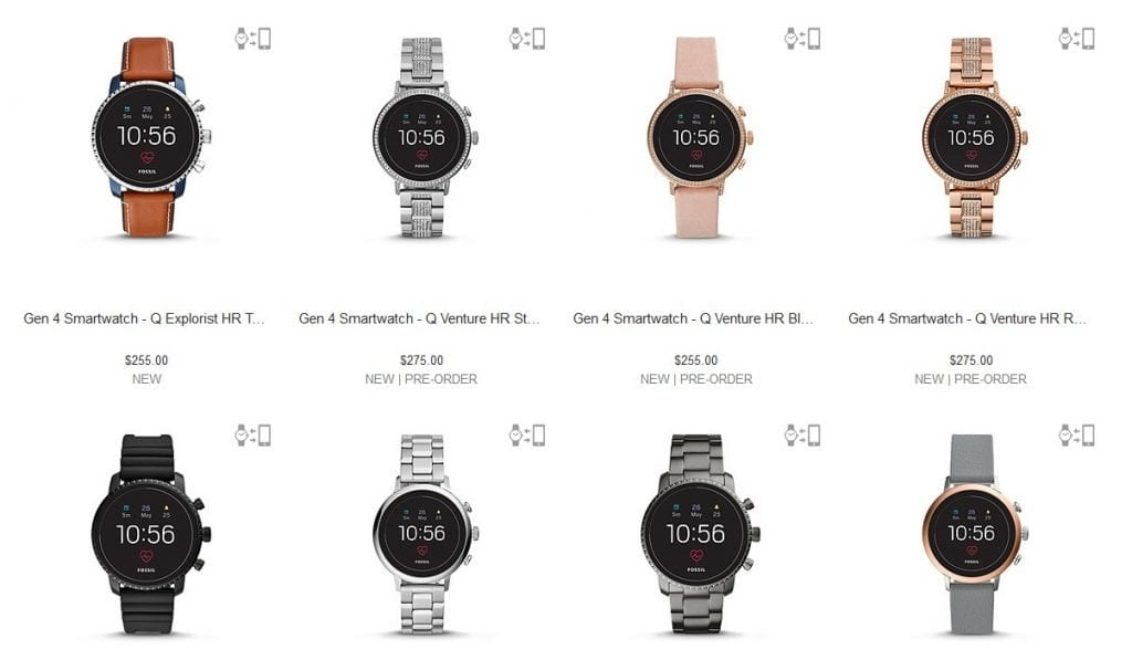 Fossil's New Smartwatches