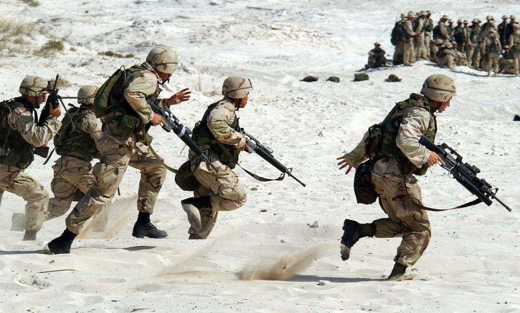 Brave Military Personnel