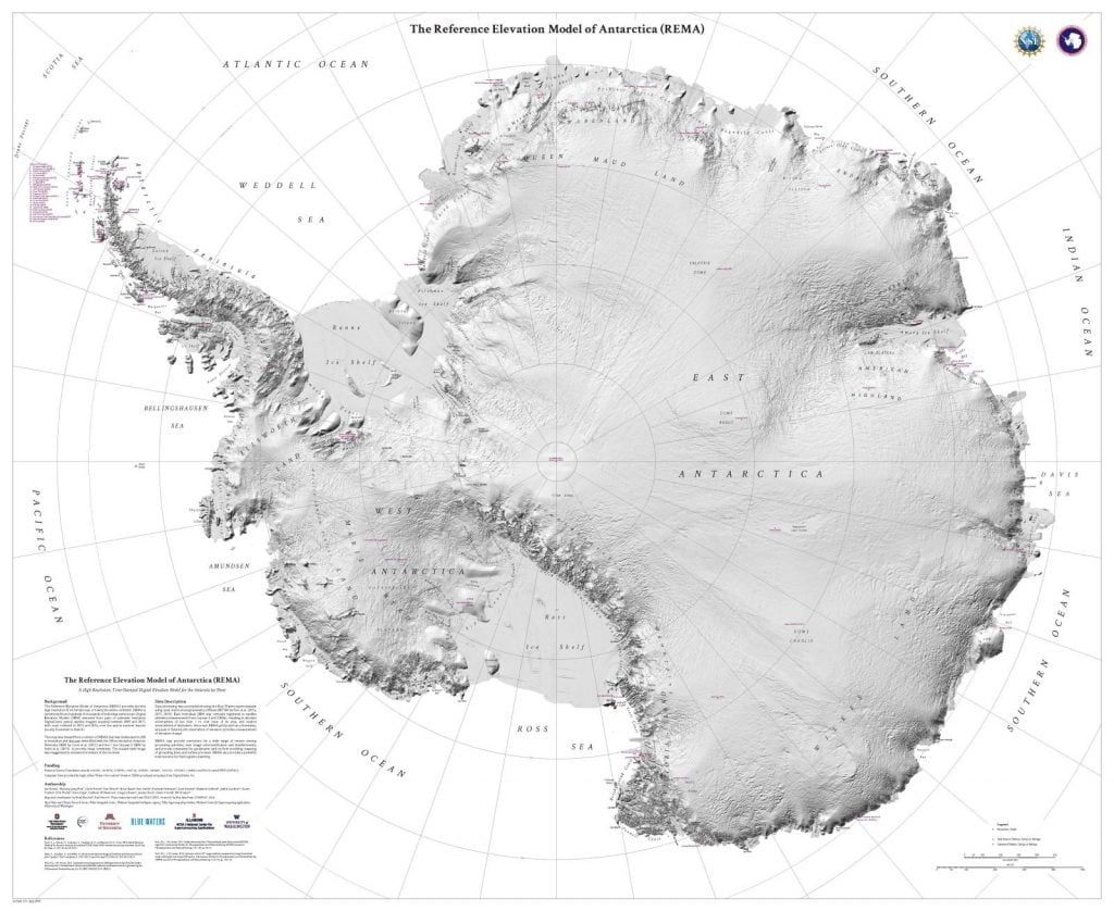 New Map Of Antarctica