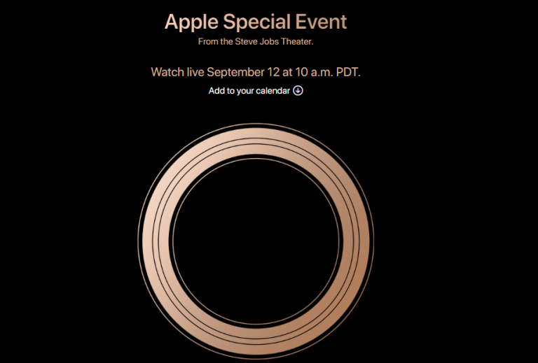 Apple iPhone XS Event Start Time