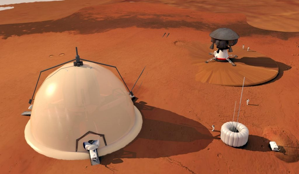 Igloo Structures On Mars' North Pole