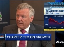 """Charter CEO Tom Rutledge """"Not a lot of scale advantages for us being in the content businesses"""" [FULL CNBC TRANSCRIPT]"""