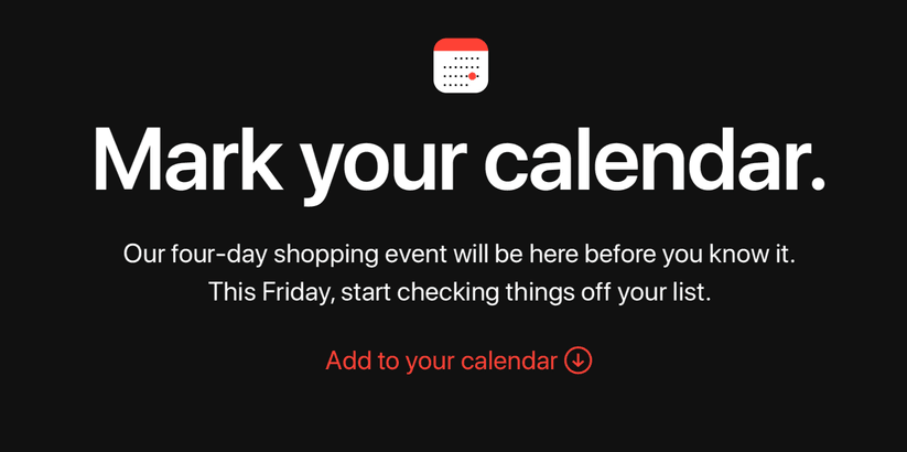 Apple's shopping event black friday