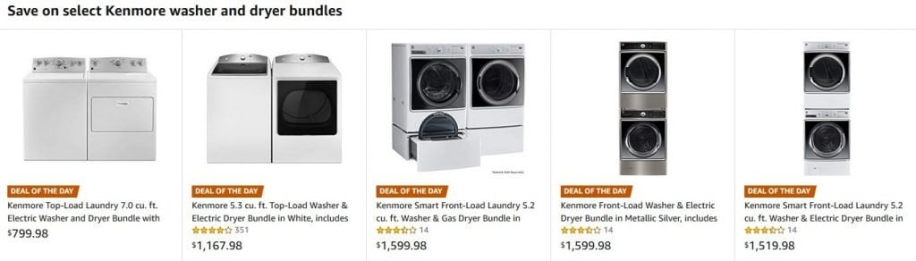 Kenmore Washer And Dryer Bundles