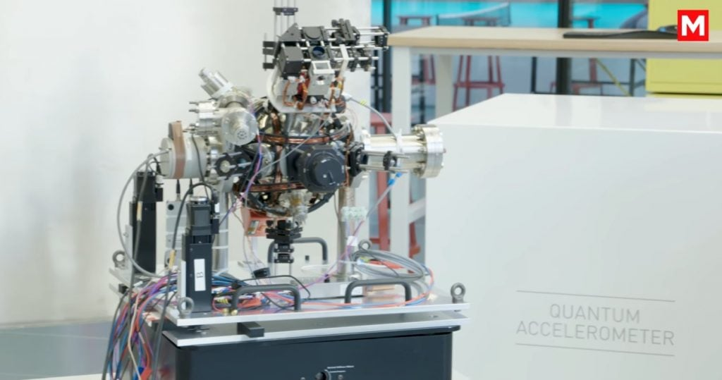 Quantum-Based Accelerometer Locate Objects