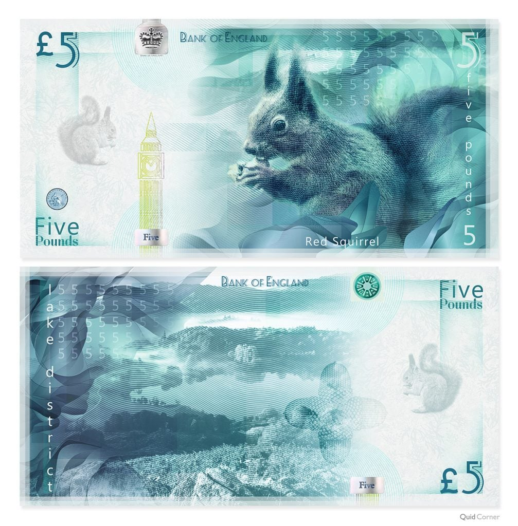 UK bank notes Endangered Species