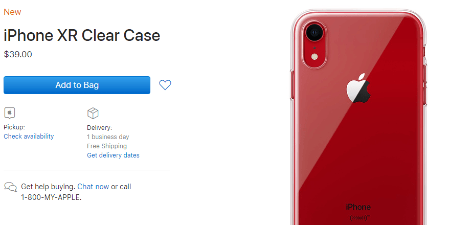 iPhone XR clear case, 18W USB-C charger