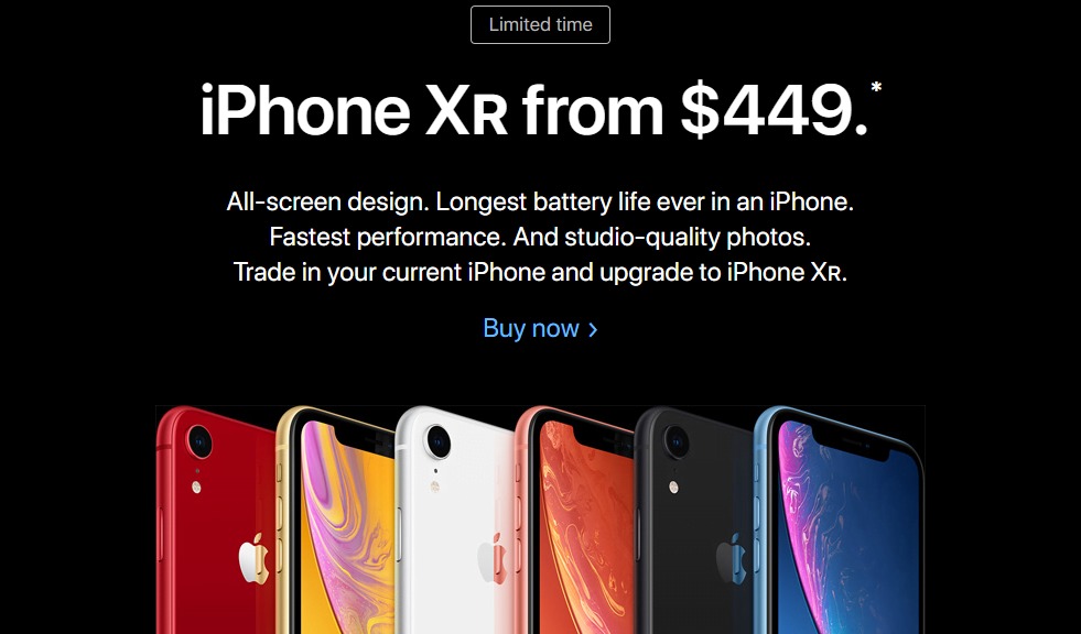 Poor iPhone XR Sales