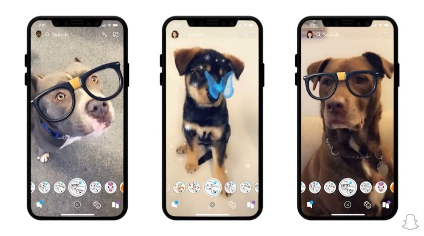 Snapchat Adds Dog Filters