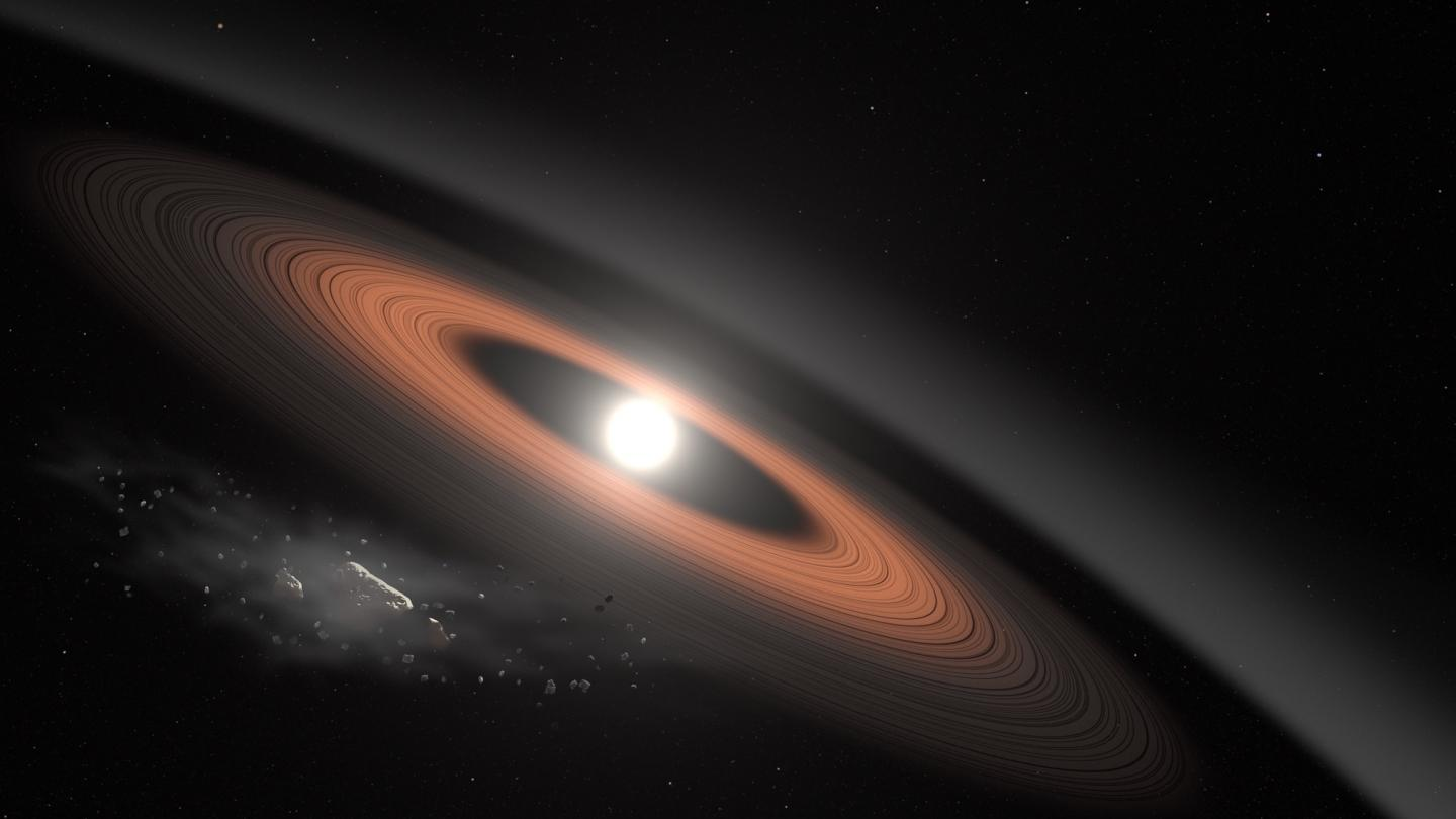 Ancient Star Surrounded By Rings