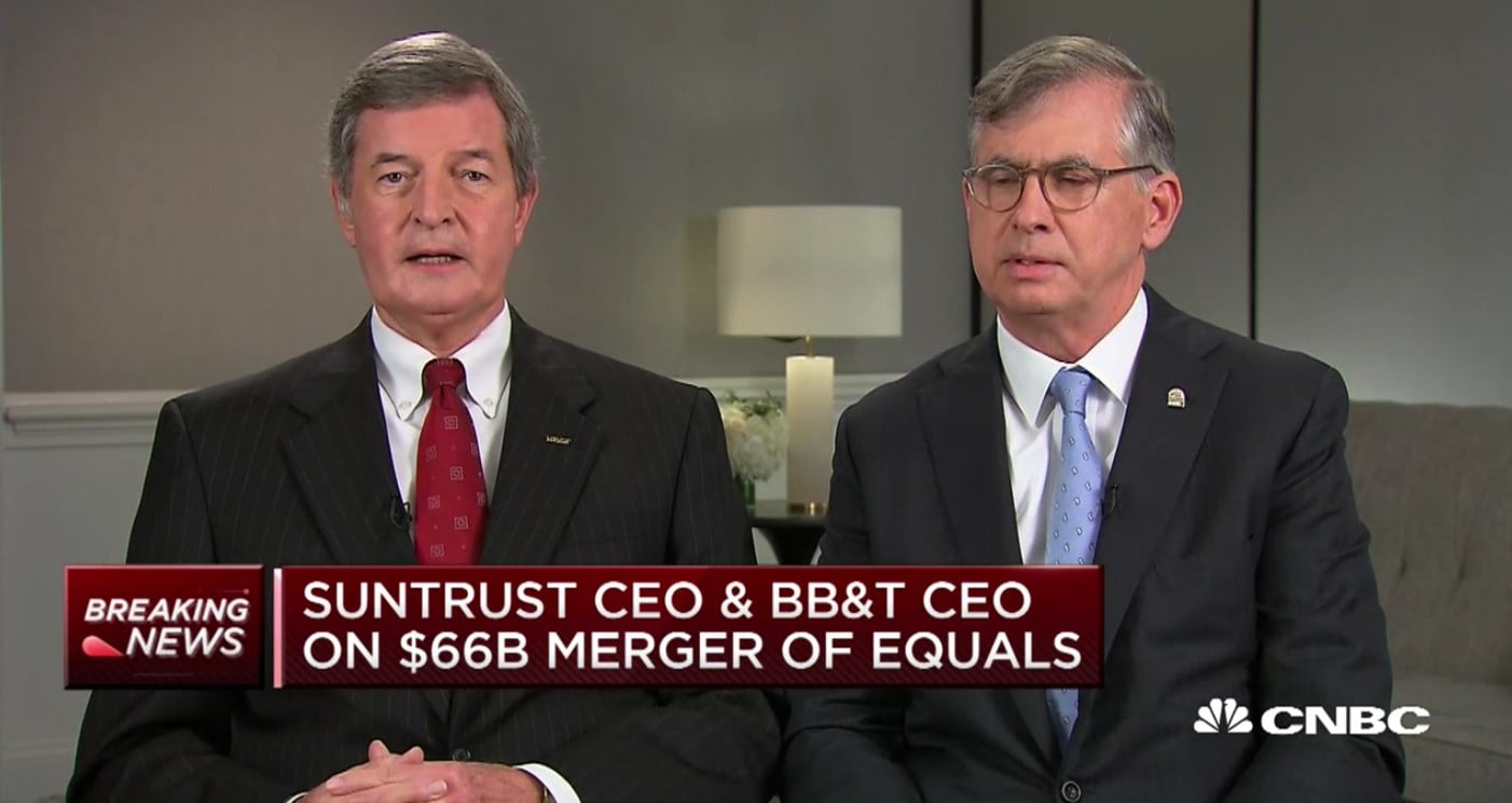 BB&T CEO Kelly King And SunTrust CEO Bill Rogers
