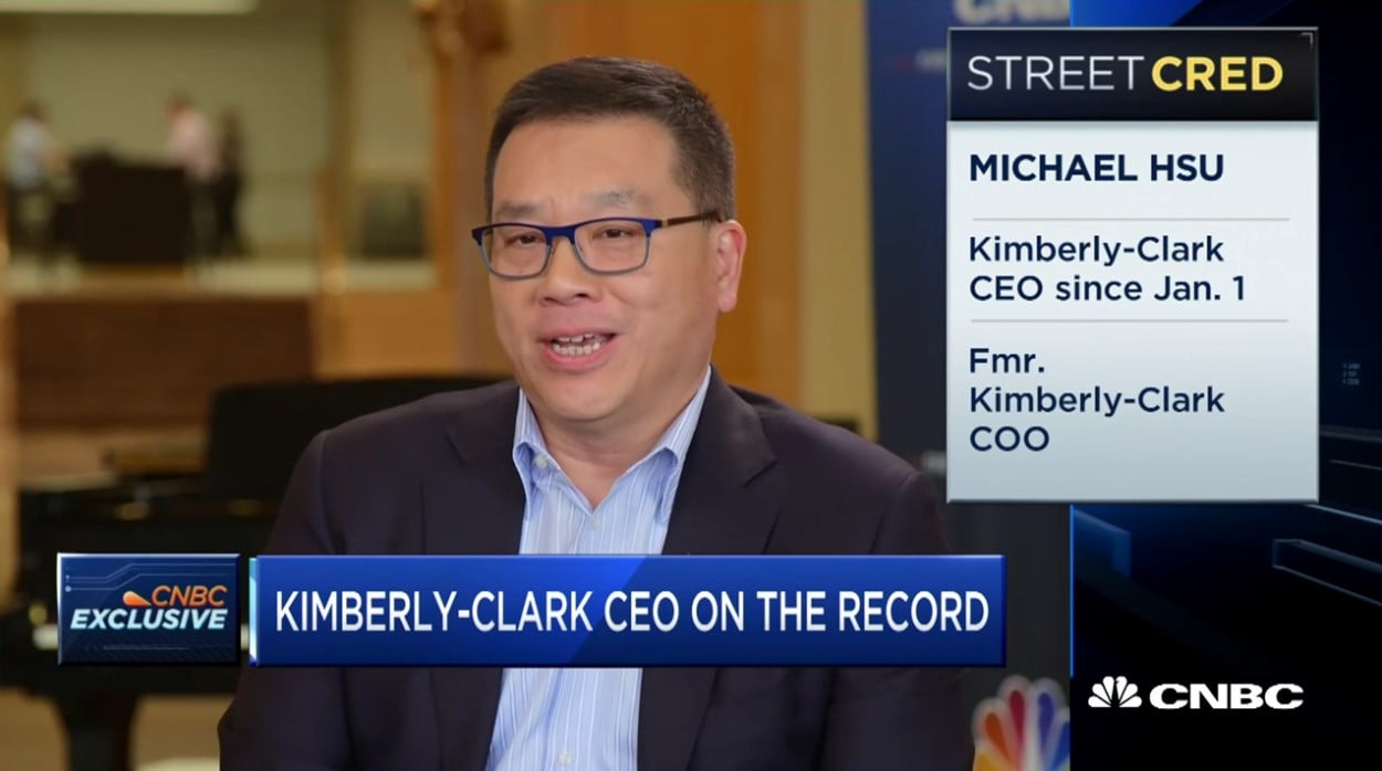 Kimberly-Clark CEO Michael Hsu