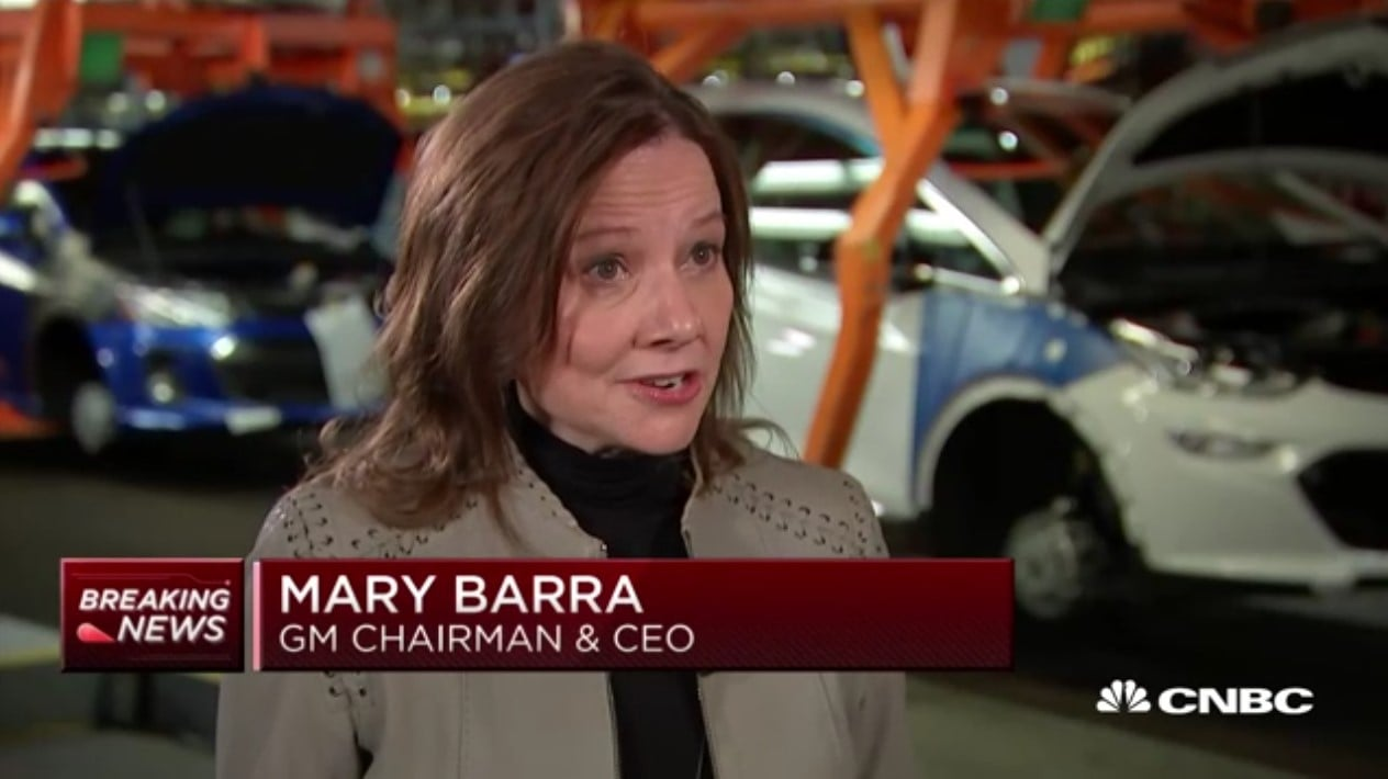 General Motors Chairman and CEO Mary Barra chevrolet bolt ev