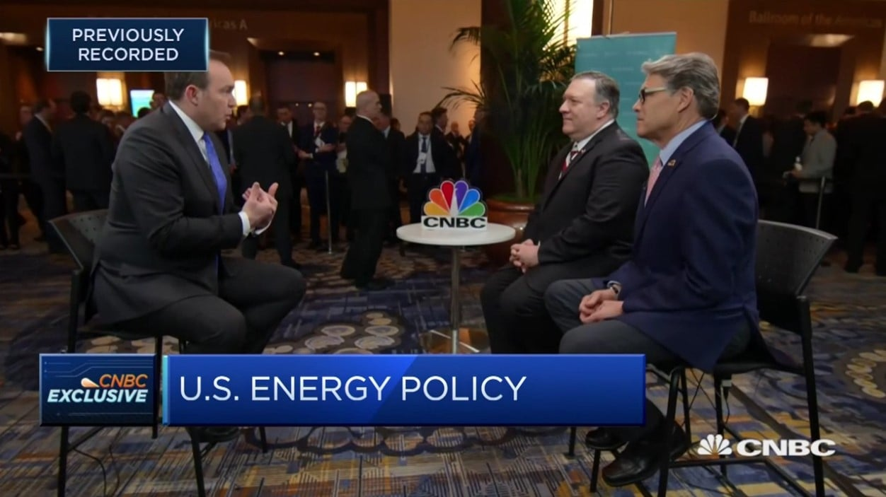 Mike Pompeo and Secretary Of Energy Rick Perry