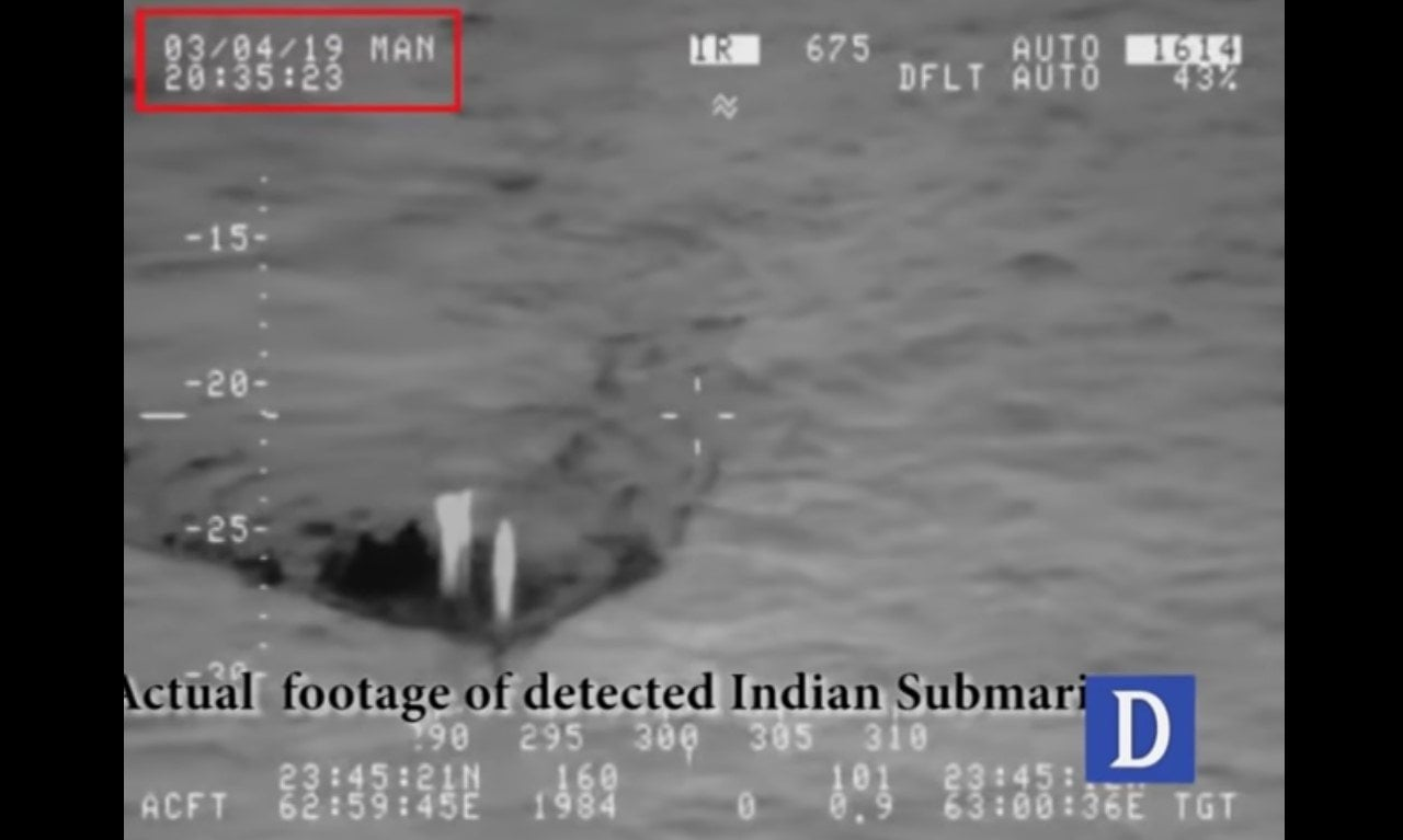 Pakistan Navy Indian Submarine Sovereign Waters