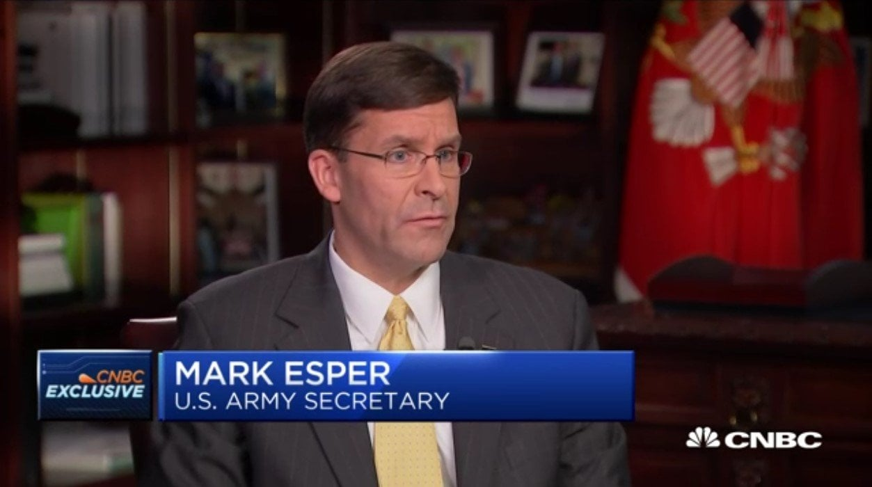 Secretary Of The Army Mark Esper