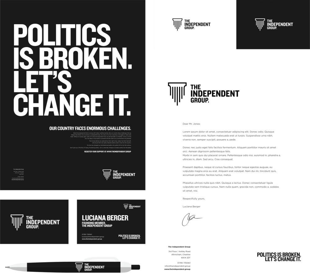 Independent Rebrand political parties