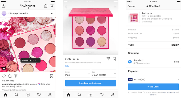 New Instagram Checkout