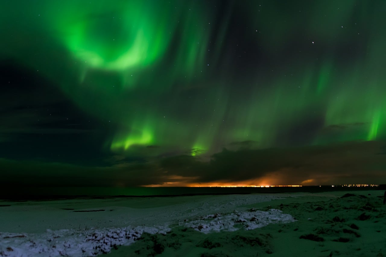 Beautiful Northern Lights Geomagnetic Storm