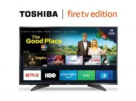 Toshiba 50-Inch 4K Ultra HD Smart LED TV For Just $299.99