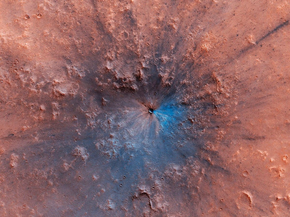 Newly-Discovered Crater On Mars