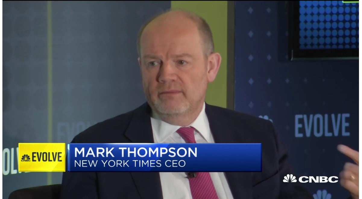 The New York Times Company CEO Mark Thompson