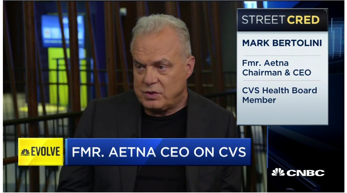 former Aetna CEO Mark Bertolini