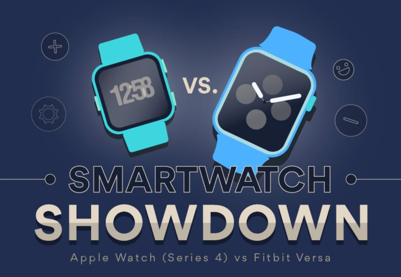 Apple Watch Series 4 and Fitbit Versa