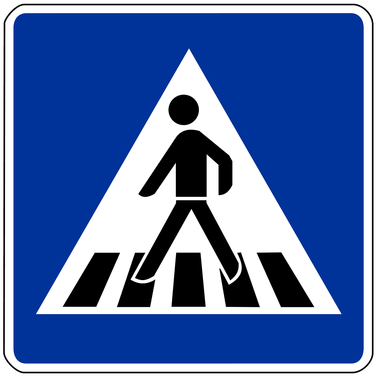 Crosswalk stick figure