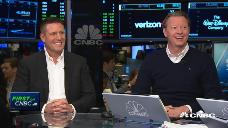 Hans Vestberg and Kevin Mayer